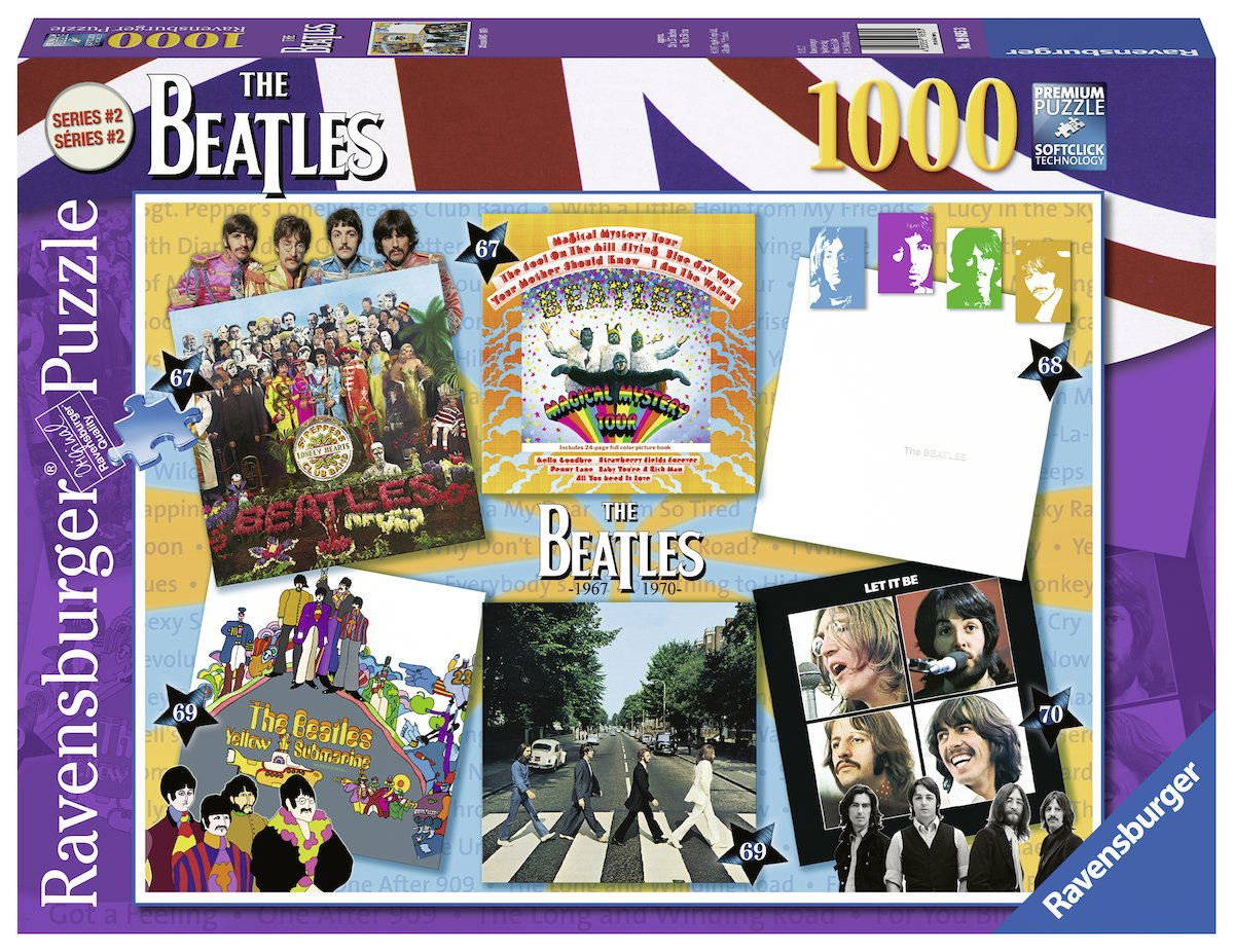 Ravensburger The Beatles: Albums 1967-1970 Puzzle Set (1000 Piece)