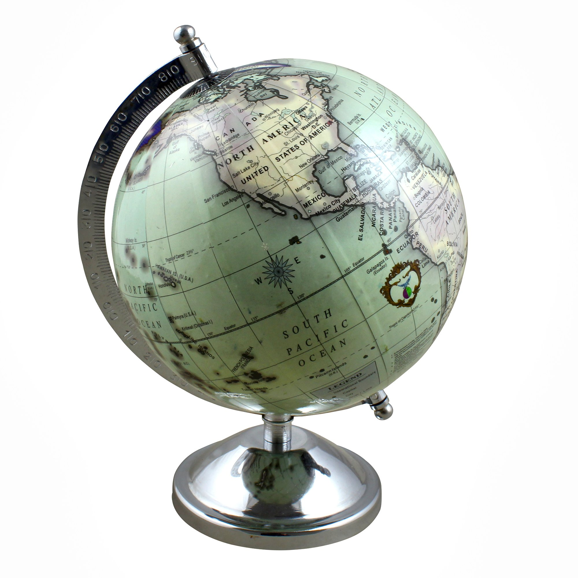 Stock Clearance Sale!! Rotating Desk Globe Earth Map with Stand, 9 Inches for Home School Desk Decorations Gift