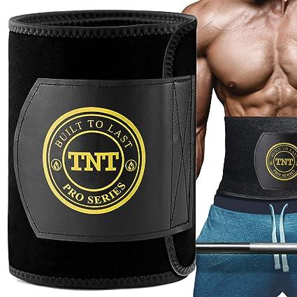 7eca8cb5b1 TNT Pro Series Waist Trimmer Weight Loss Ab Belt - Premium Stomach Fat  Burner Sweat Wrap