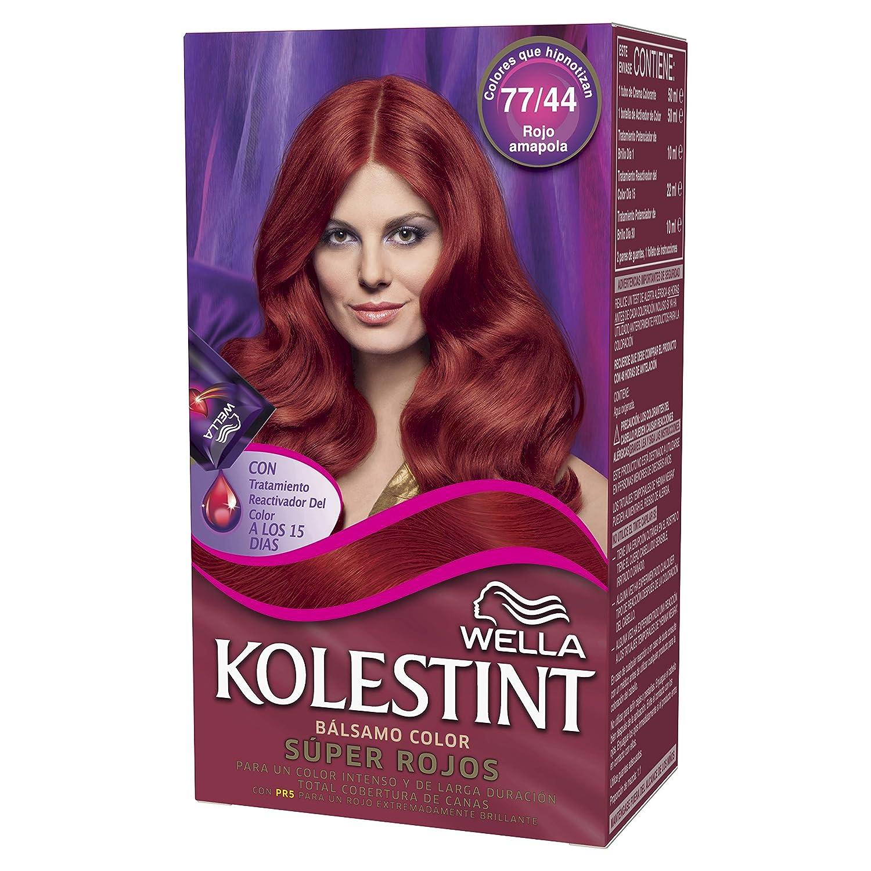 Wella Kolestint Tinte De Cabello Kit, Tono 7744 Rojo Cobrizo 210 g