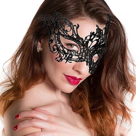 Sexi Donna Maschera Pizzo Floreale Mascherina Carnevale Donne Per Feste