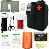"""Everlit Emergency Survival Trauma Kit with Tourniquet 36"""" Splint, Military Combat Tactical IFAK for First Aid Response, Critical Wounds, Gun Shots, Blow Out, Severe Bleeding Control and More"""