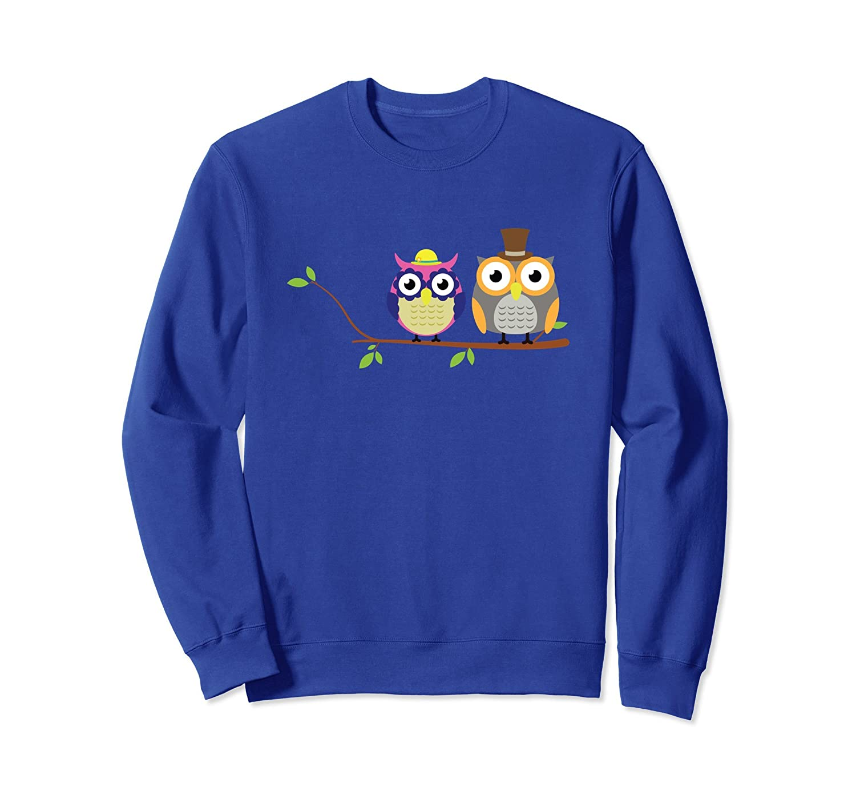 Cute Owls Tree Branch Hat Bird Owl Lover Fun Sweatshirt Gift-anz
