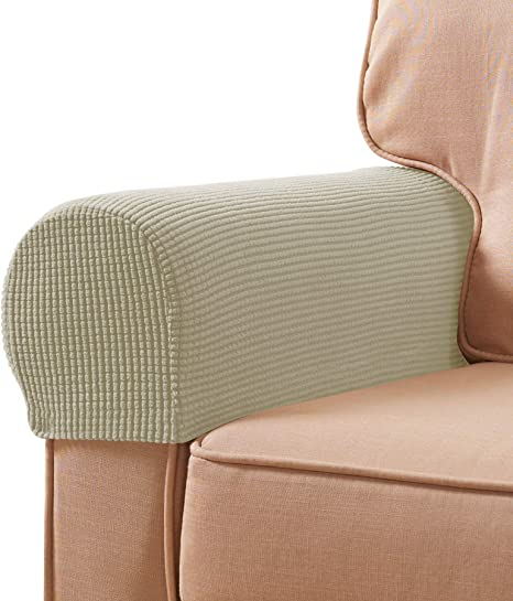 2,Chocolate Non-Slip Furniture Protector Sofa Armchair Slipcovers for Recliner Sofa Subrtex Stretch Fabric Armrest Covers