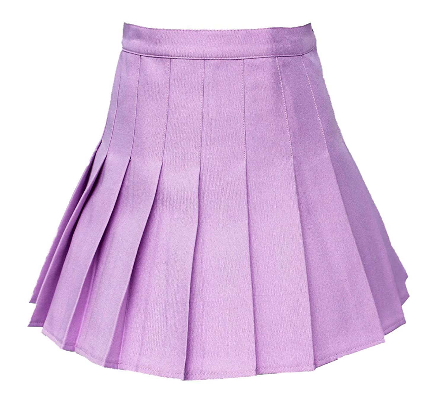 Ejiddg Women High waisted Solid Pleated Mini Tennis Skorts Or Skirt 13 Colors 2 Styles Purple S