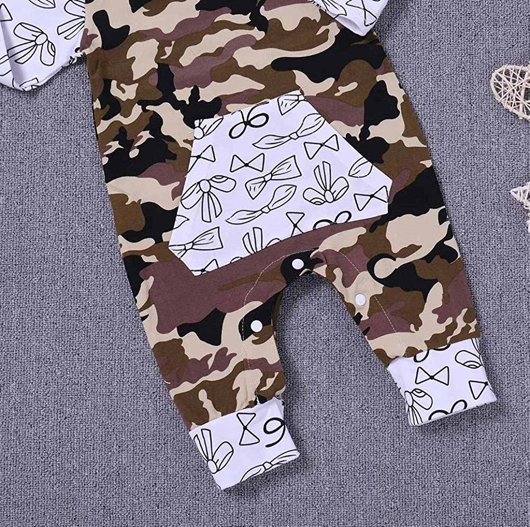 FEITONG Toddler Kid Baby Boys Camouflage Romper Jumpsuit Playsuit Clothes