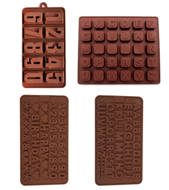 4 unidades Antiadherente valor unidades moldes de números ...