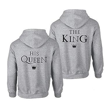 Pärchen Hoodie Couple Sweatshirts King Queen Pullover für