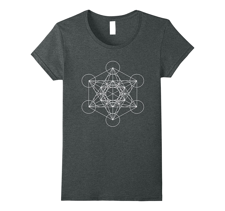 Sacred Geometry Metatrons Spiritual T Shirt-Xalozy