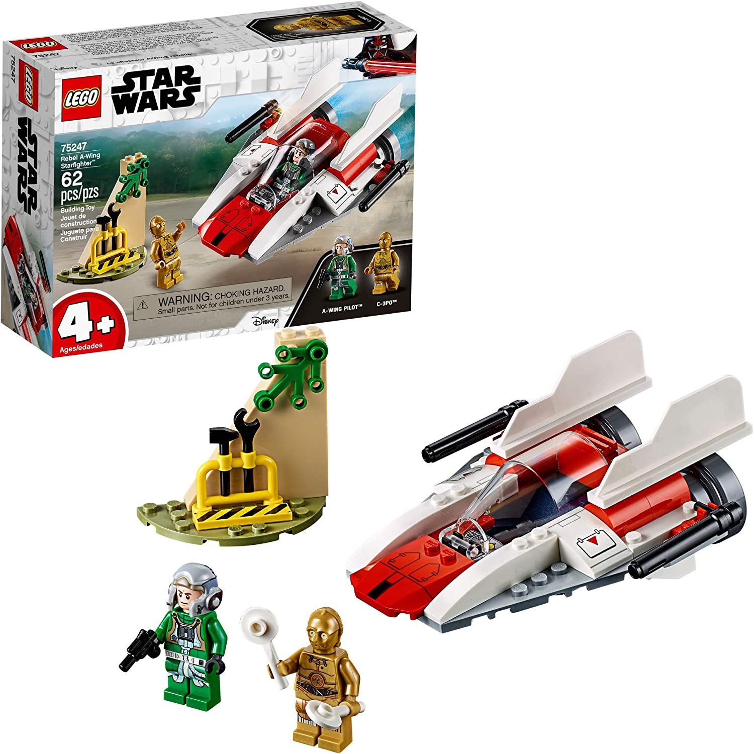 Amazon Com Lego Star Wars Rebel A Wing Starfighter 75247 4 Building Kit 62 Pieces Toys Games