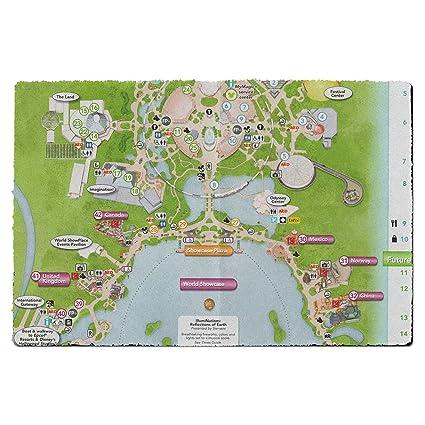 Amazon.com : Epcot Center Map Door Mat - Small Door Mat ...