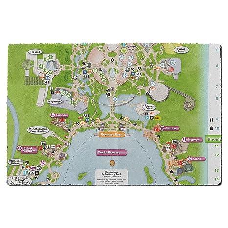 Amazon.com : Epcot Center Map Door Mat - Small Door Mat - Indoor ...