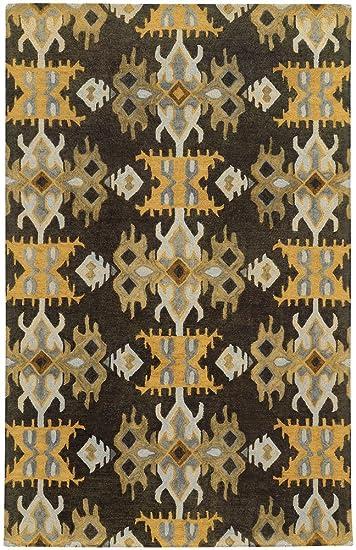 Amazon Com Tommy Bahama Jamison 53305 Geometric Black Gold Area