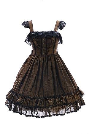 Kawaii-Story JL de 616 – 1 Oro Dulce Classic Gothic Lolita Vestido Disfraz Dress