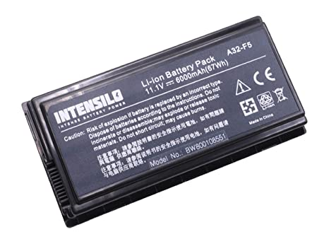 INTENSILO Li-Ion batería 6000mAh (10.8V) para Notebook ordenador portátil Asus X50RL