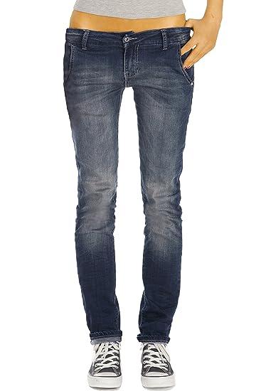 bestyledberlin Damen Jeans, Basic Slim Fit Jeanshosen, Stretch Hosen j26i