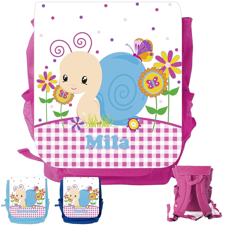 MissRompy Schnecke (832) Rucksack mit Name Kinderrucksack Kita Kindergartenrucksack Kindertasche