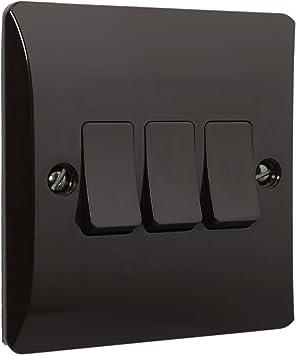 Marr/ón de baquelita Interruptor de pared intermedio 1/Gang 10/Amp por Art Deco Emporium