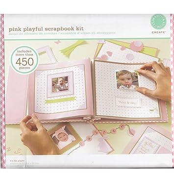 Amazon 72421 Martha Stewart Pink Playful 8x8 Scrapbook Kit