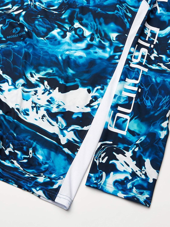 Camo Long Sleeve Performance Fishing Shirt With +30 UPF Sun Protection Mossy Oak Hydro Sailfish Huk Mens Mossy Oak Pursuit Long Sleeve Shirt Large