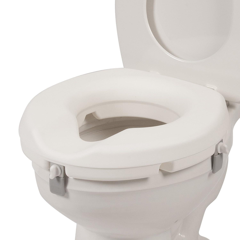 Amazon: Pcp Low Profile Molded Toilet Seat Riser, White, 3 Inch: Health  & Personal Care