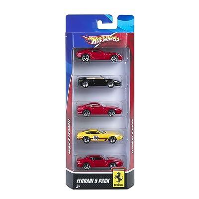 Hot Wheels Ferrari 5-Pack - Styles May Vary: Toys & Games