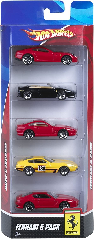 Hot Wheels Ferrari 5 Pack Styles May Vary Amazon De Computer Zubehör