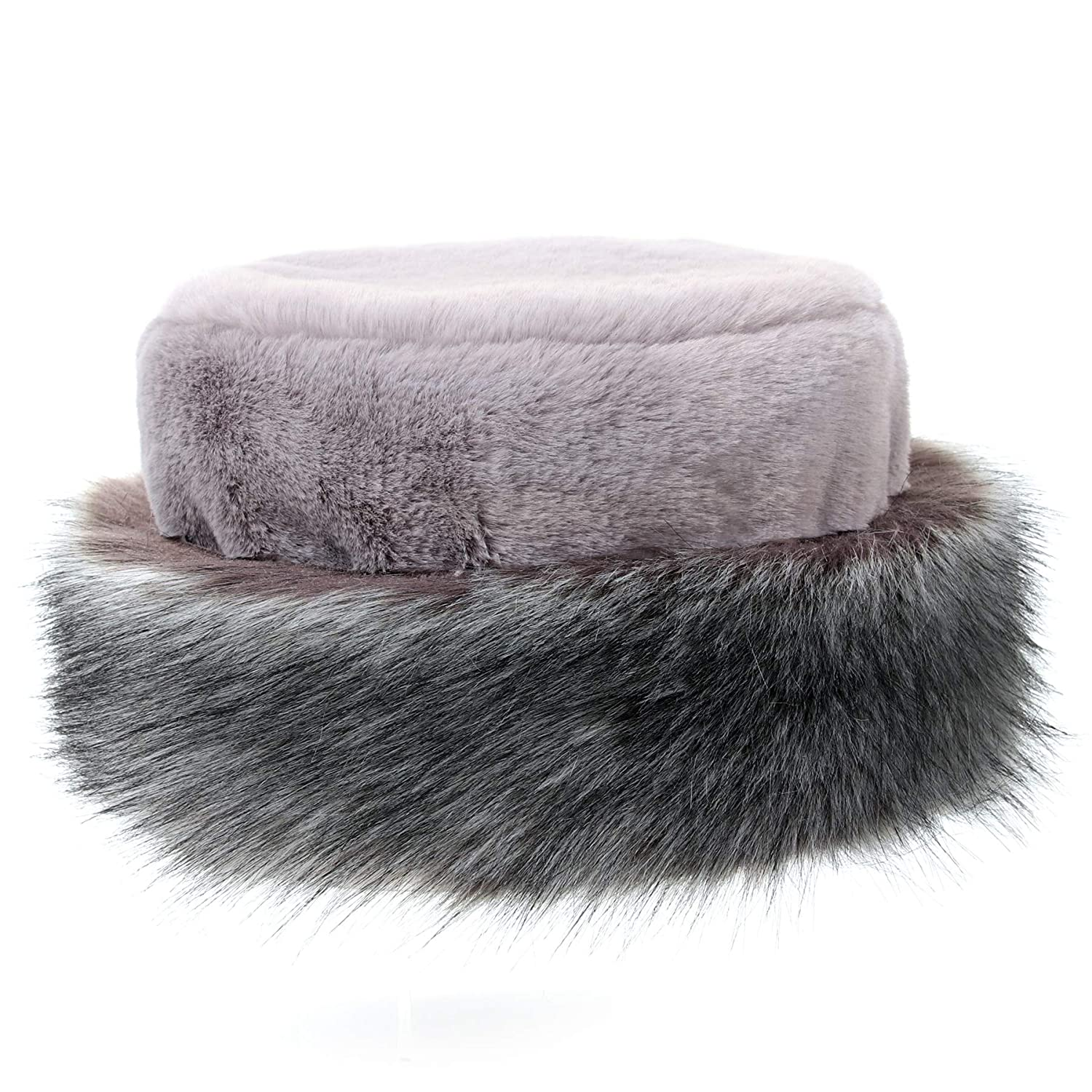 a7ef76f2 Soul Young Womens Leopard Faux Fur Hat with Fleece and Elastic for Winter  Black/)