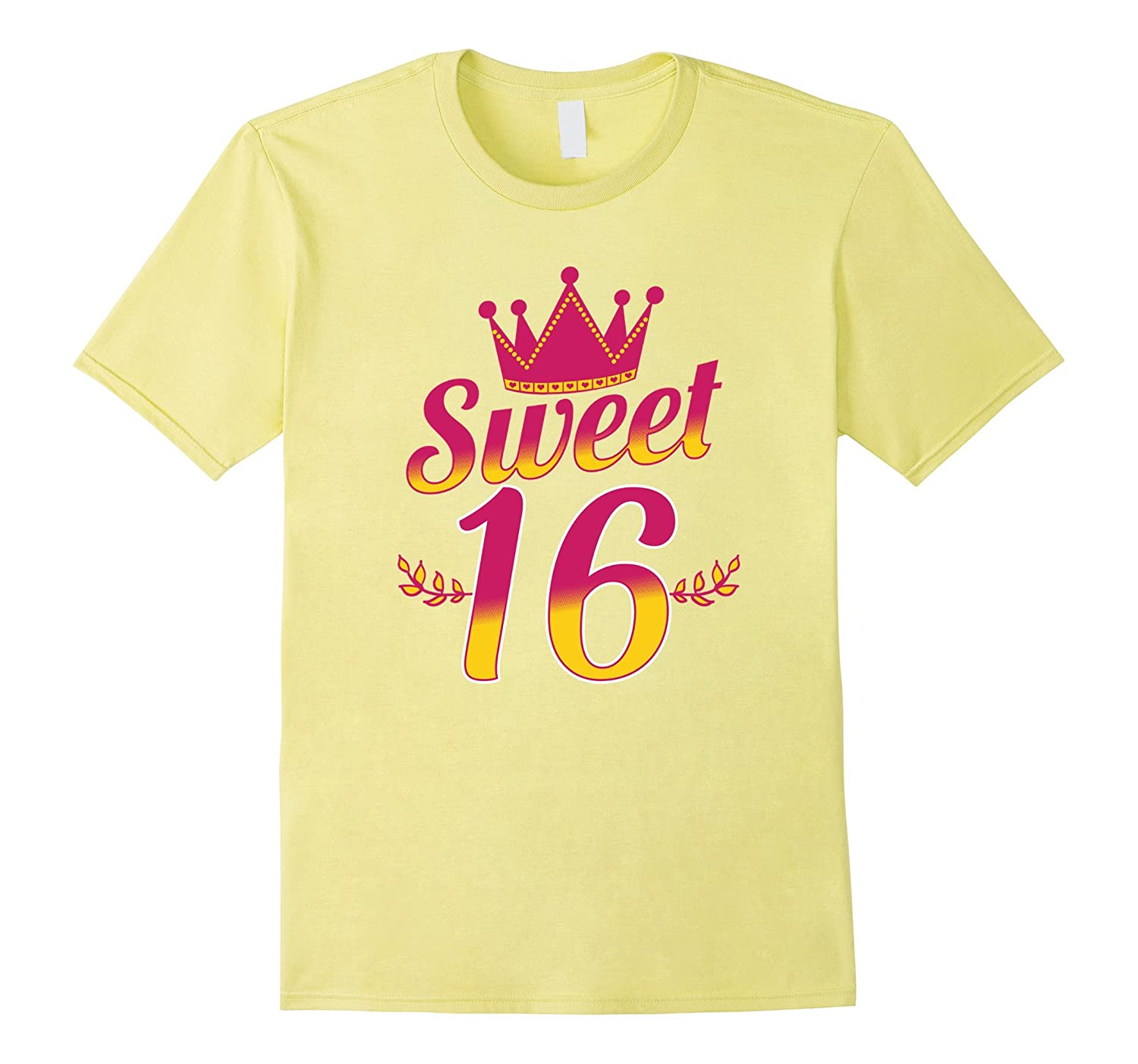 54554b3c Girls 16th Birthday T-shirt Sweet 16 Sixteen Party Celebrate-PL ...