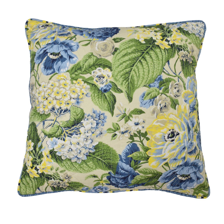 """WAVERLY Floral Flourish Decorative Pillow, 20"""" x 20"""", Porcelain"""