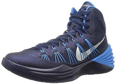 147671b0fec ... Nike Mens Hyperdunk 2013 Basketball Shoes Midnight NavyPhoto  BlueMetallic Silver 584433- ...