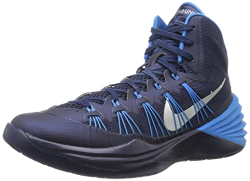 0ad2c1085a0c Nike Mens Hyperdunk 2013 Basketball Shoes Midnight Navy Photo Blue Metallic  Silver 584433-