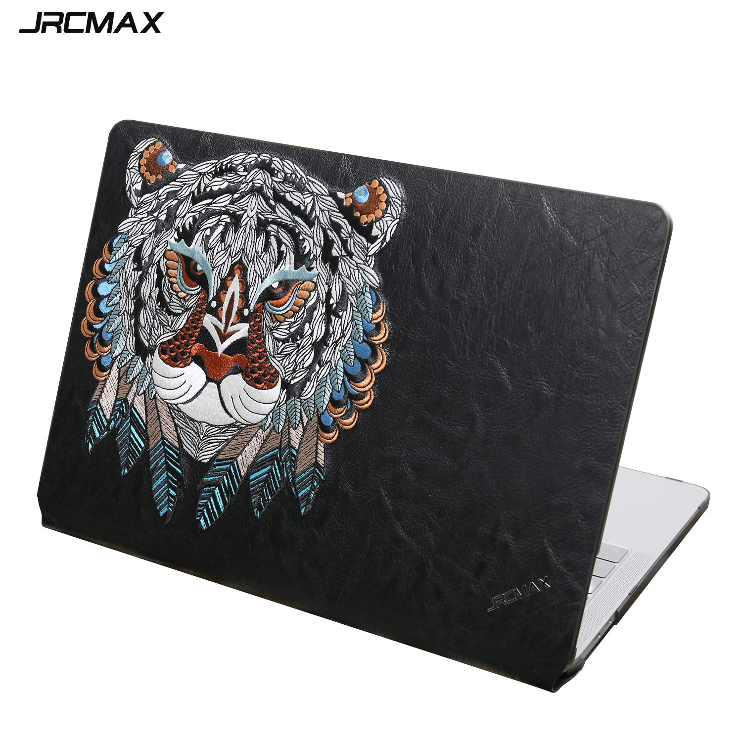 JRCMAX MacBook Pro 13 Case 2017 & 2016 Release, [Embroidered Series] Premium Leather Hard Case Shell for Apple MacBook Pro 13 Inch w/Without Touch Bar and Touch ID (MacBook Pro 13'' 2017/2016, Tiger)
