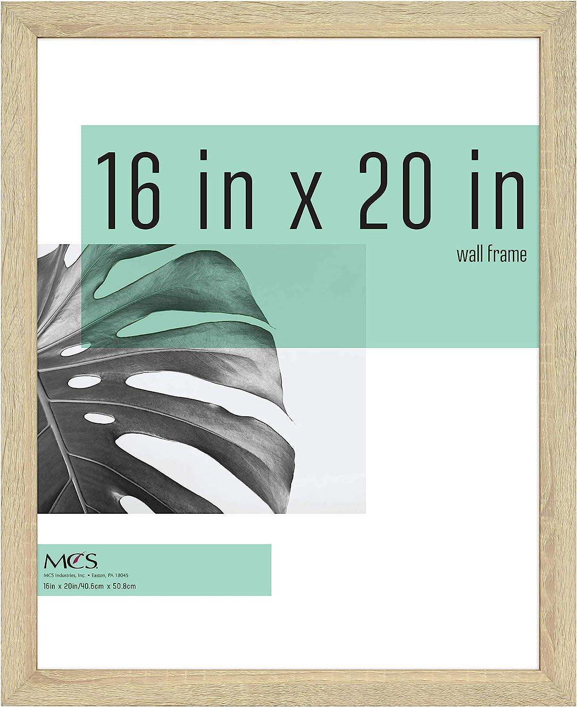 MCS Industries Inc 63732 16x20 Inch Studio Gallery, Natural Woodgrain Frames, 16x20