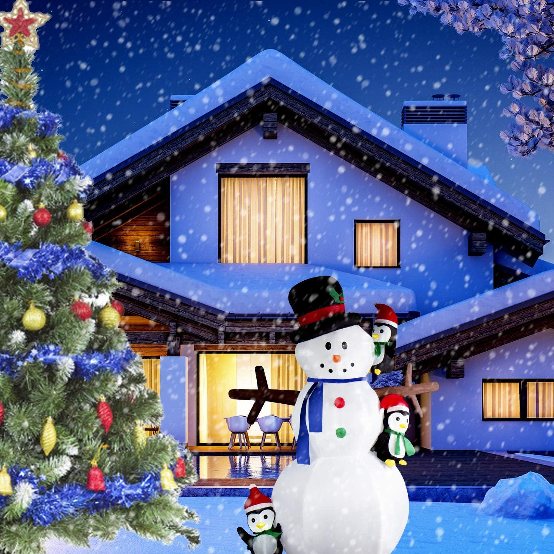 CCLIFE Led Schneemann Beleuchtet Aufblasbar snowman outdoor Au/ßenbereich Schneem/änner Weihnachtsbeleuchtung weihnachtsdeko Weihnachtsfigur Farbe:Wei/ß007-120cm