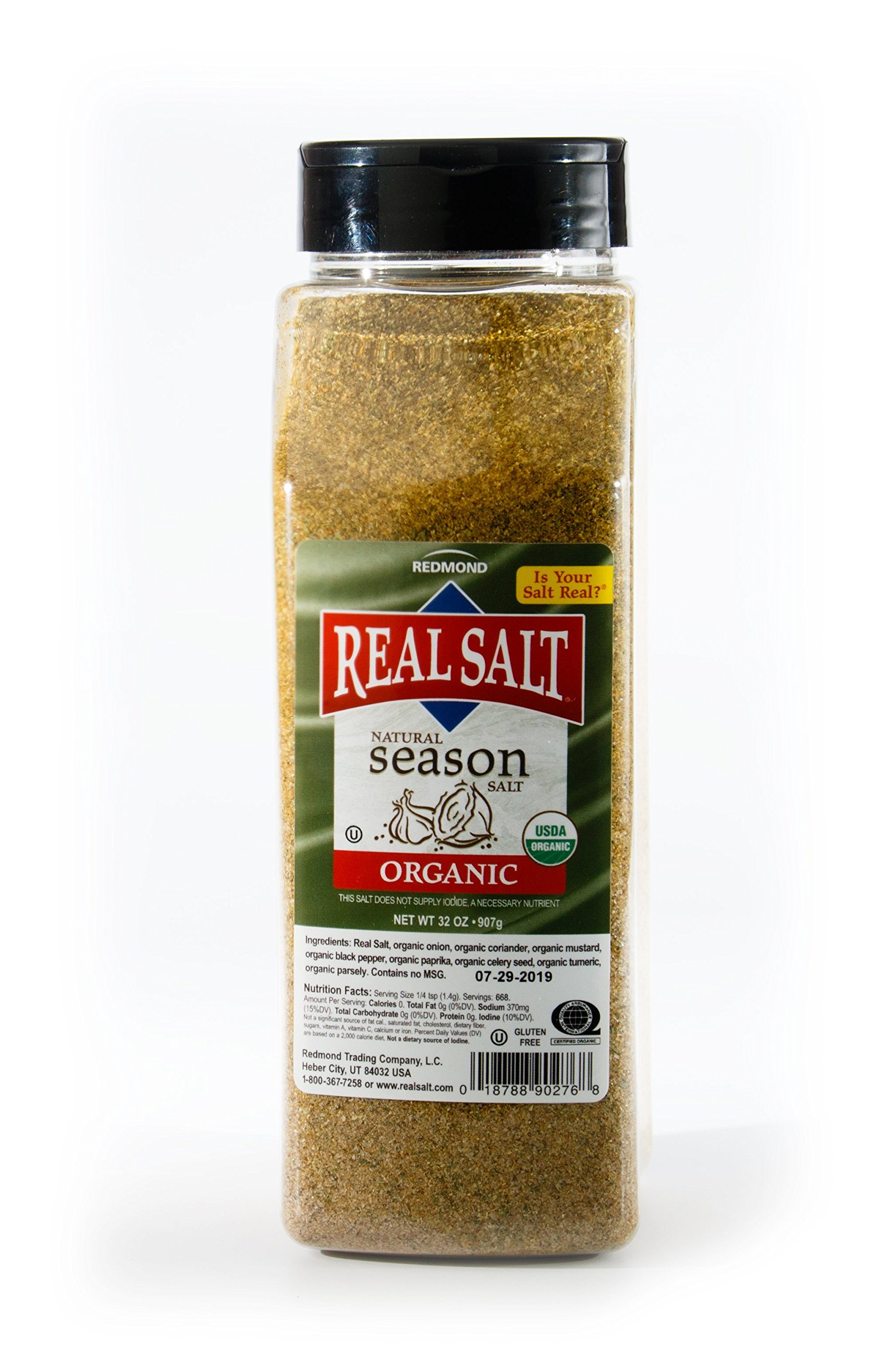 Redmond Real Sea Salt - Natural Unrefined Organic Gluten Free, Seasoning 32 Ounce Container … … by REDMOND