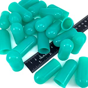 """25 Piece 3/4"""" ID High Temp Silicone Rubber End Caps - Powder Coating, Painting, Plating, Blasting Protection"""