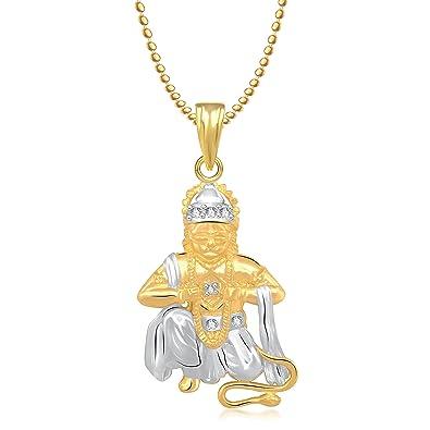 Meenaz hanuman bajrangi god gold plated pendant locket cz in meenaz hanuman bajrangi god gold plated pendant locket cz in american diamond for men aloadofball Images