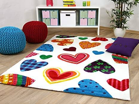 Tappeti Colorati Per Bambini : Tappeto per bambini e ragazzi maui cuore colorato in 5 misure
