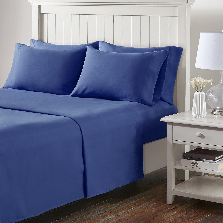 Comfort Spaces(コンフォートスペース) マイクロファイバーシーツセット クイーン ブルー CS20-0235 B071GM3G9N クイーン|ネイビー ネイビー クイーン
