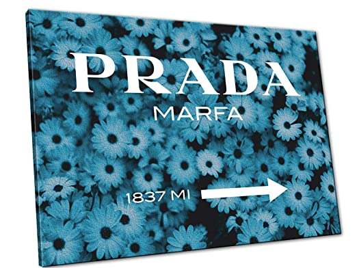 Prada marfa gossip girl margherite blu quadro moderno stampe su