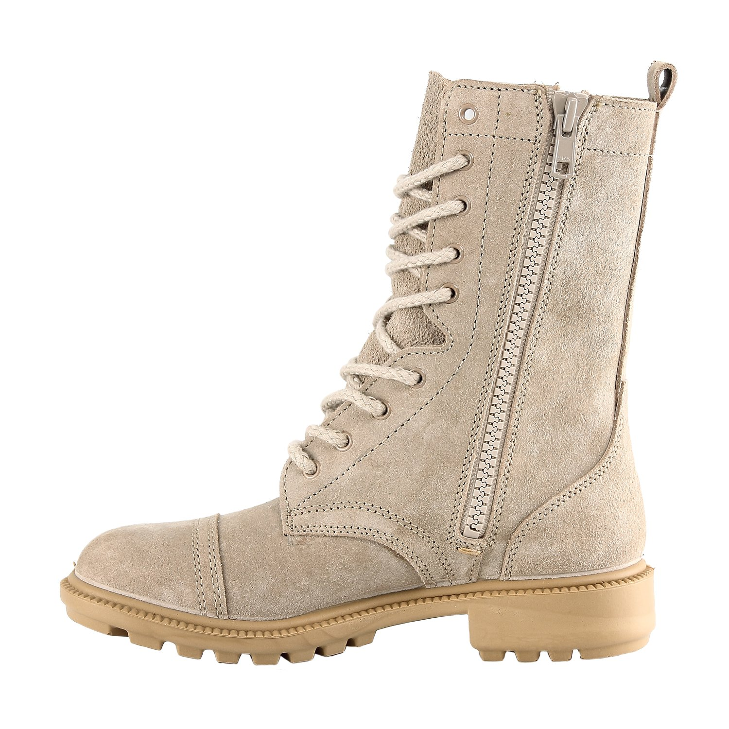 | Unisex High Lace Up Military Jungle Style BURGAN 832 Desert Combat Boot Water Resistant Tactical Commando SWAT Training Shoes Mid-Calf Suede Full Leather for Men and Woman Side Zipper