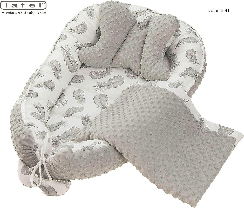 Nid dange b/éb/é cocon cocon Nest Minky avec un coussin papillon et une couverture 55 x 75 cm