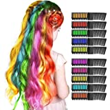 LET'S GO! Hair Chalk Gifts for 3-12 Year Old Girls - Temporary Bright Non-Sticky Skin Combable Hair Paint Washable Color Makeup Kit for Kids Role Play Party Toys for Boys Teen Adult (10 pcs)