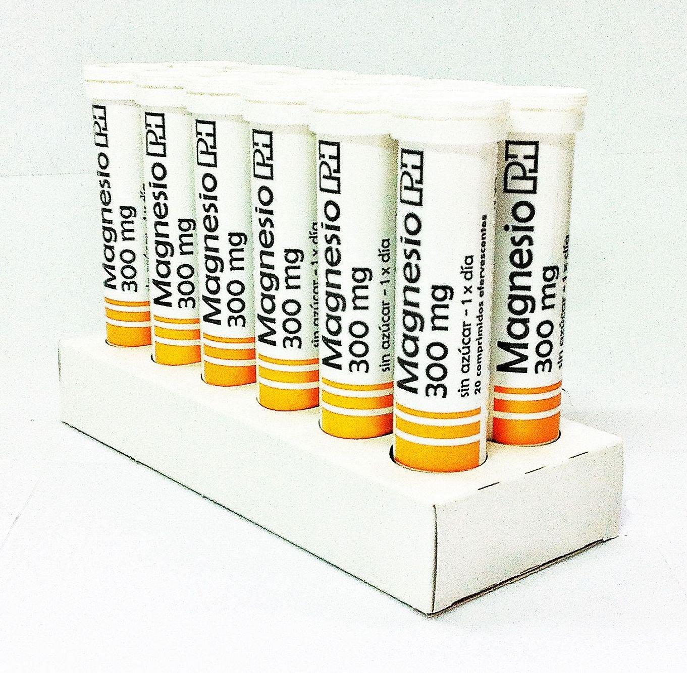 Pack MAGNESIO PH 300mg. 12 Tubos de 20 comprimidos efervescentes. OFERTA 10+2 Gratis: Amazon.es: Salud y cuidado personal