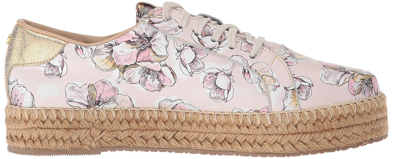 KAANAS Women's Arizona Leather Espadrille Platform Lace-up Sneaker B075MVQ9B6 7 B(M) US Rose
