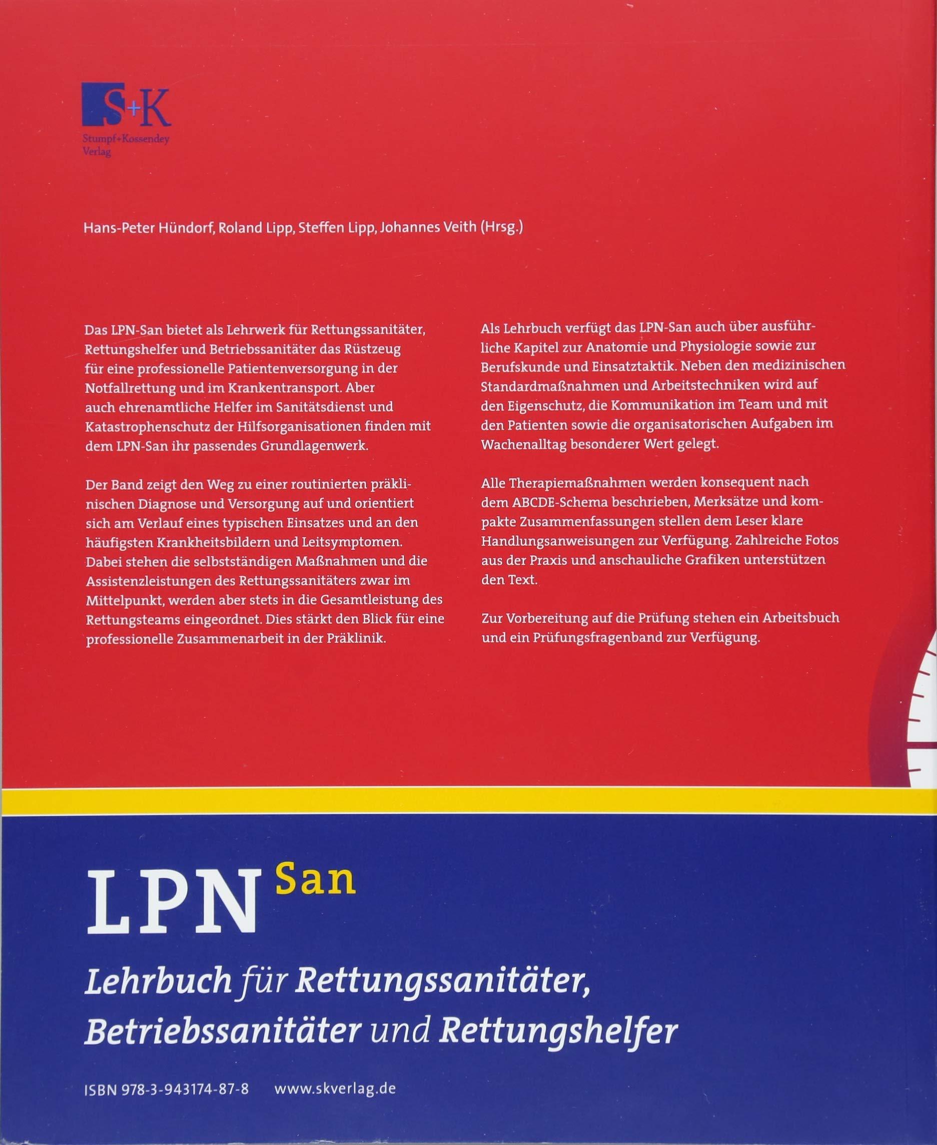 LPN-San: Lehrbuch für Rettungssanitäter, Betriebssanitäter und ...