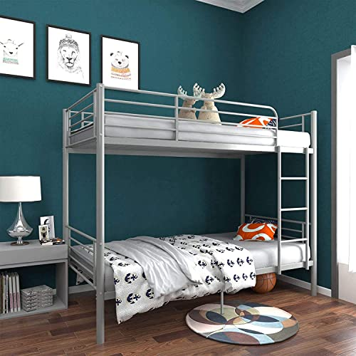 Twin Over Twin Metal Bunk Bed/Sturdy Frame