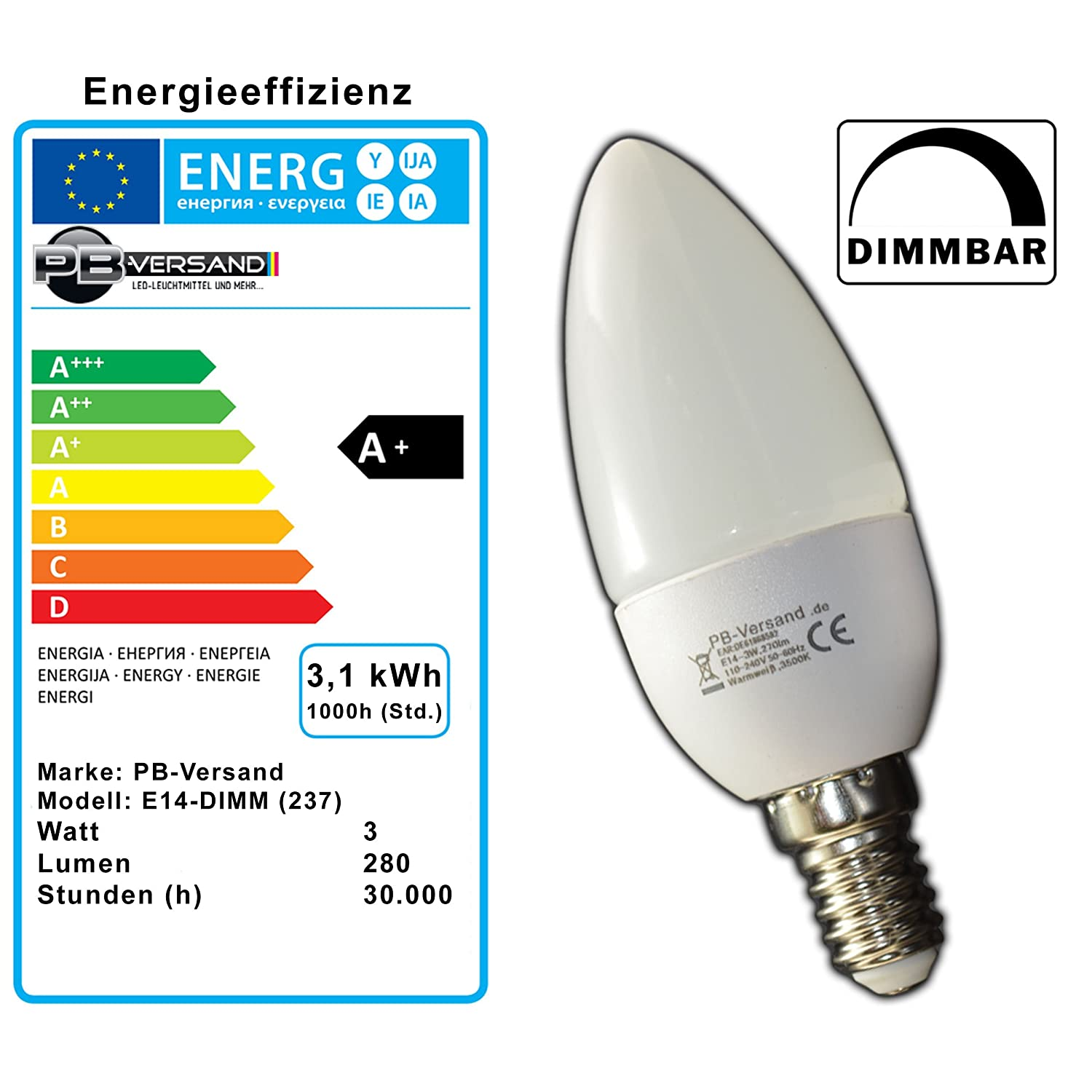 Pack of 3x e14 led candle light bulb 3 watt candle light bulb pack of 3x e14 led candle light bulb 3 watt candle light bulb energy saving warm white lamp bulb spotlight for dimmer amazon kitchen home parisarafo Gallery