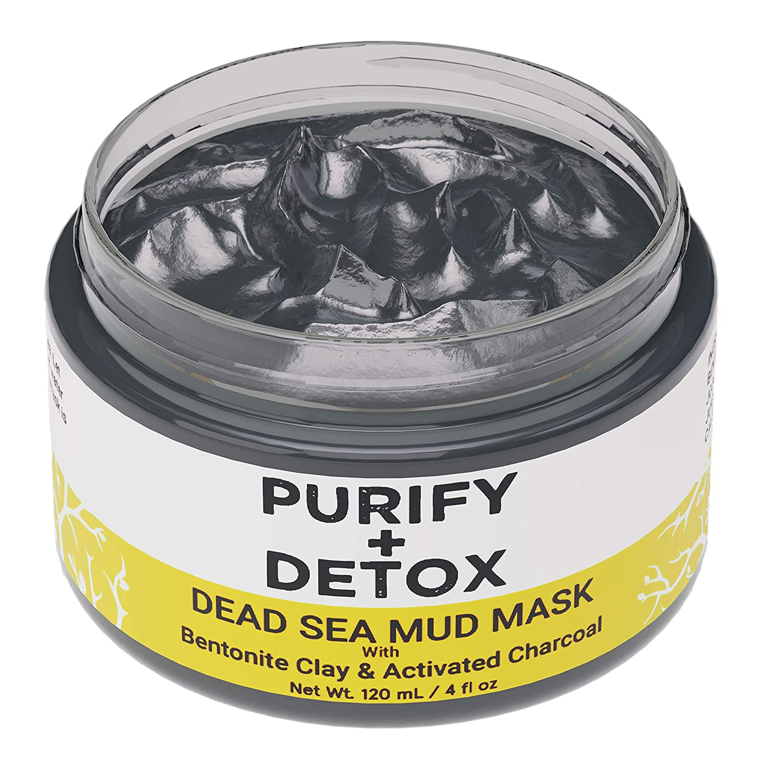 Dead Sea Mud Mask for Face with Bentonite Clay and Activated Charcoal - Pore Minimizer, Clear Blackheads- for Acne-Prone, Oily Skin Exfoliating Facial Mask, Armpit Detox - Formulated in San Francisco
